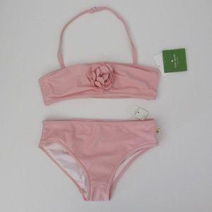 NWT Kate Spade 2pc Pink Rosette Bikini Swimsuit